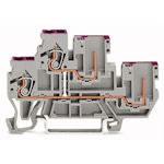 1-Leiter / 1-Pin-Doppelstock-Basisklemmen