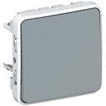 Legrand 69521 Wippschalter Kreuz Feuchtraum Modular Plexo 55 gra