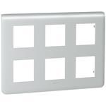 Legrand 79032 Rahmen 2x3x2mod alu Mosaic