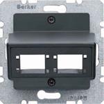 Berker Zentralplatte für 1 oder 2 14721606
