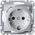 Merten FI-Steckdosen-Einsatz alu 232860