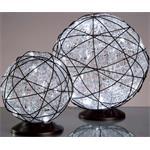 Hellum Glühlampenwer LED-Rattankugel 2er-Set 543223