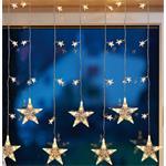 Hellum Glühlampenwer LED-Sternenvorhang 39-flg 576351