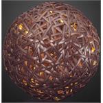Hellum Glühlampenwer LED-Rattan Kugel 576887