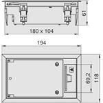 OBO Bettermann Geräteeinsatz GES2 U 9011