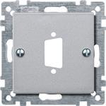 Merten Zentralplatte alu 468160