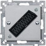 Merten Zentralplatte alu 469260
