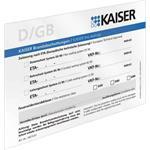 Kaiser Schott-Kennzeichnungsschil 9473-92