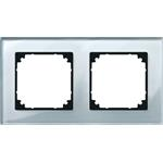 Merten Rahmen Glas 2f.diam/si 489260