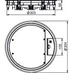 OBO Bettermann Geräteeinsatz für Universa GESR9 10U 7011