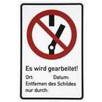 Dehn+Söhne Warn-/Hinweisschild WHS NS EWGA M