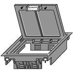 OBO Bettermann Geräteeinsatz für Doppelbo GES4 DB 8014