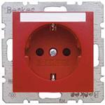 Berker SCHUKO-Steckdose rt/gl 47508902