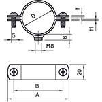 OBO Bettermann Abstandschelle mit Gewinde 2900/W3/8