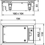 OBO Bettermann Geräteeinsatz für Doppelbo GES2 DB 9011