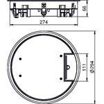OBO Bettermann Geräteeinsatz GESR7 10U 7011