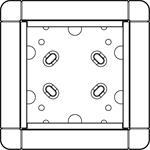 Ritto Portier AP-Rahmen gr/br 1 8831/50