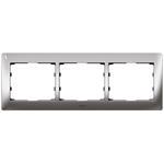 Legrand 771933 Rahmen 3-fach waagerecht Galea silver chrome