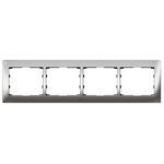 Legrand 771934 Rahmen 4-fach waagerecht Galea silver chrome