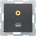Berker Steckdose USB/3,5mm Audio 3315391606