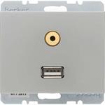 Berker Steckdose USB/3,5mm Audio 3315397004