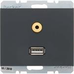 Berker Steckdose USB/3,5mm Audio 3315397006