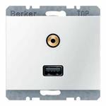 Berker Steckdose USB/3,5mm Audio 3315397009