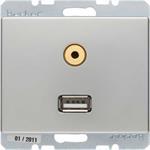 Berker Steckdose USB/3,5mm Audio 3315399004