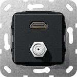 Gira UP Tragring HDMI und SAT 567510