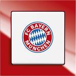 Busch-Jaeger Wechselschalter 2000/6 UJ/03 FC Bayern München Fanschalter