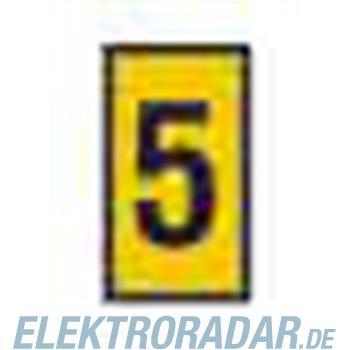 HellermannTyton Kennzeichnungstülle HODS85-5-PVC-YE-M4