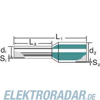 Weidmüller Aderendhülse H1,5/18D SW