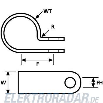 HellermannTyton Befestigungsschelle H16P-N66-NA-D1