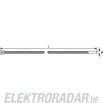 HellermannTyton Kabelbinder T50R-W-BK-C1