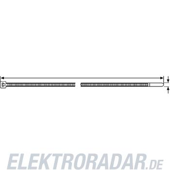 HellermannTyton Kabelbinder T120R-W-BK-C1(MIL)