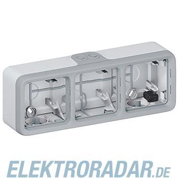 Legrand 69680 Gehäuse 3-fach waagerecht Feuchtraum Aufputz Plexo