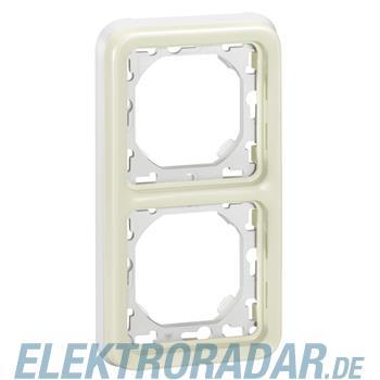 Legrand 69696 FR Abdeckrahmen 2-fach senkrecht Feuchtraum Aufput