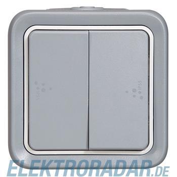 Legrand 69715 Wippschalter Doppelwechsel Feuchtraum Aufputz Plex