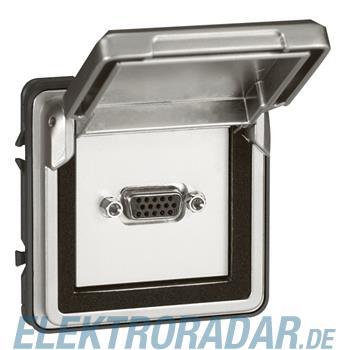 Legrand 77880 Mosaic Adapter mit Klappdeckel Soliroc IP55 IK10 g