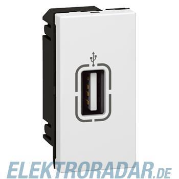 Legrand 78761 USB-Anschl.buchse 1mod ws Mosaic