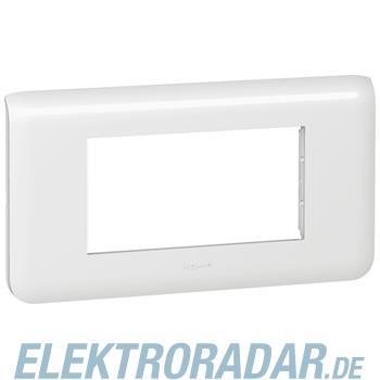 Legrand 78814 Rahmen 4mod horizontal ws Mosaic