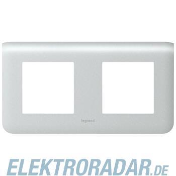 Legrand 79004 Rahmen 2x2mod horiz. Alu Mosaic
