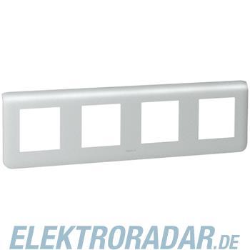 Legrand 79008 Rahmen 4x2mod horiz. Alu Mosaic