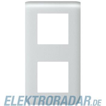 Legrand 79022 Rahmen 2x2mod vertikal alu Mosaic
