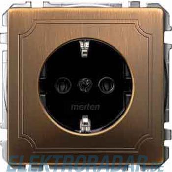 Merten SCHUKO-Steckdose Ant/mess MEG2301-4143