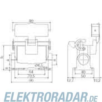Weidmüller Steckverbinder-Gehäuse HDC 16A SLU 1PG21G