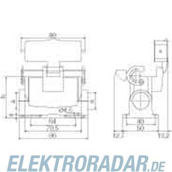 Weidmüller Steckverbinder-Gehäuse HDC 16A SLU 2PG16G
