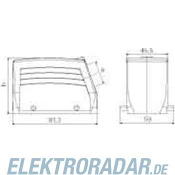 Weidmüller Steckverbinder-Gehäuse HDC 40D TSBU 1PG21G