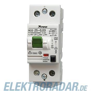 Kopp Fehlerstromschutzschalter RCD, 25A, 30mA, 2-polig 7525.2801.2