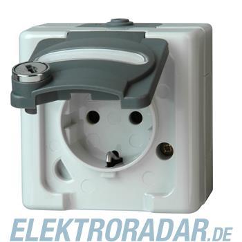 Kopp Schutzkontakt-Steckdose mit Sicherheitsschloss-Klappdeckel 1034.5600.9